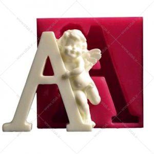 قالب فوندانت حروف فرشته حرف A