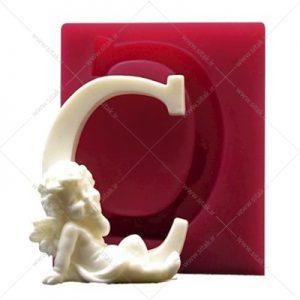 قالب فوندانت حروف فرشته حرف C