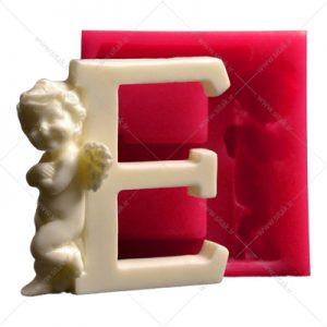 قالب فوندانت حروف فرشته حرف E