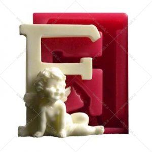 قالب فوندانت حروف فرشته حرف F
