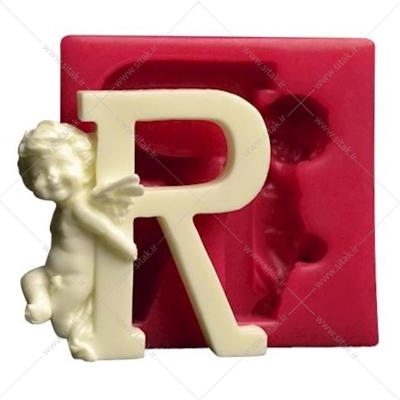 قالب فوندانت حروف فرشته حرف R