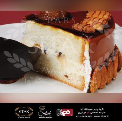 کیک اسپونج وانیلی