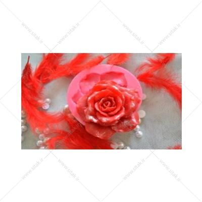 قالب فوندانت گل رز تکی برجسته
