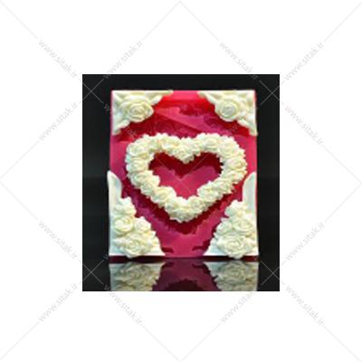 قاب قلب پر گل