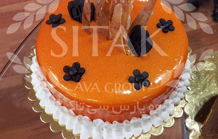تزئین کیک با فیلینگ
