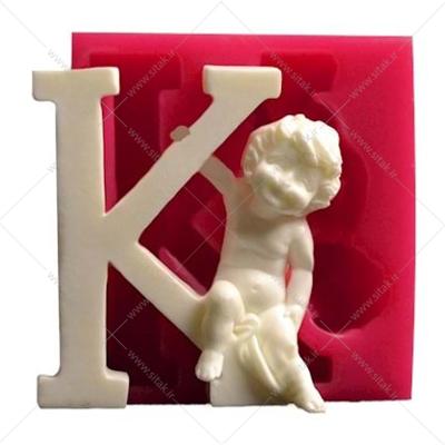 قالب فوندانت حروف فرشته حرف K