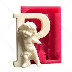 قالب فوندانت حروف فرشته حرف P