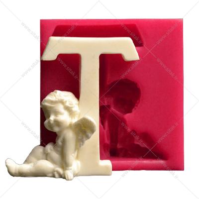 قالب فوندانت حروف فرشته حرف T