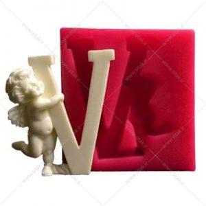 قالب فوندانت حروف فرشته حرف V