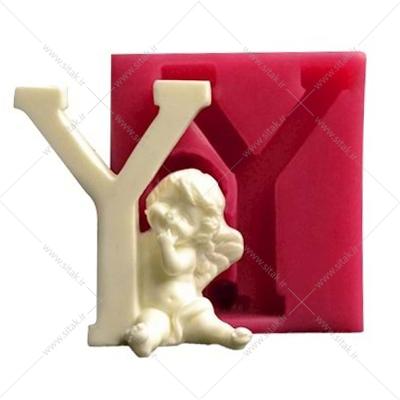 قالب فوندانت حروف فرشته حرف Y